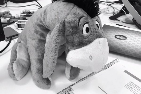 Inter Vivos Eeyore on work desk