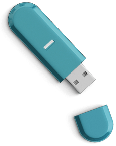 Inter Vivos green USB stick
